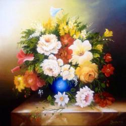 Picturi cu flori Veselie florala