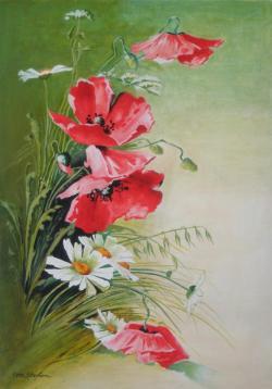 Picturi cu flori Tablou Maci