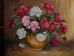 Picturi cu flori Bujori 3