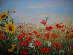 Picturi cu flori camp cu flori 10