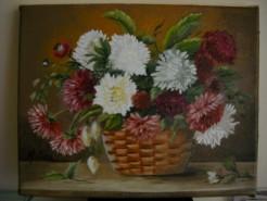 Picturi cu flori Cos asortat cu flori