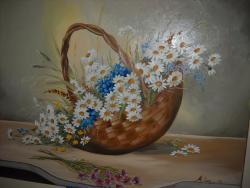 Picturi cu flori cosul margaretelor