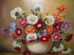 Picturi cu flori Culorile toamnei