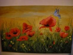 Picturi cu flori Dimineata cu maci