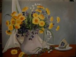 Picturi cu flori Dimineata de primavara