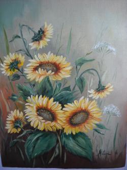 Picturi cu flori floarea soarelui 15