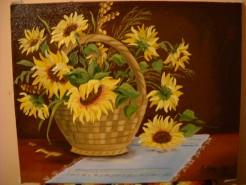 Picturi cu flori Floarea soarelui in cos