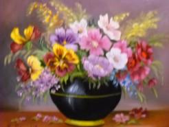 Picturi cu flori Flori cu panselute