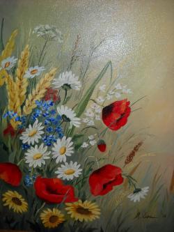 Picturi cu flori Flori de camp F 5