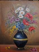Picturi cu flori Flori de camp in vaza 3