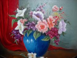 Picturi cu flori flori diverse in decor