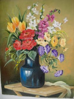 Picturi cu flori Flori in vaza 2017