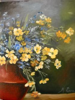 Picturi cu flori floricele culese