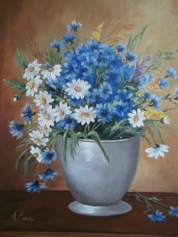 Picturi cu flori florile campului in vaza