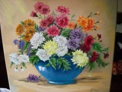 Picturi cu flori florile toamnei 10