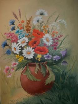 Picturi cu flori Frumusetile verii