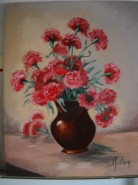 Picturi cu flori Garoafe