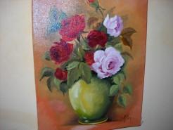 Picturi cu flori Jocul culorilor