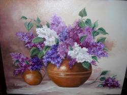 Picturi cu flori Lila Orgonak