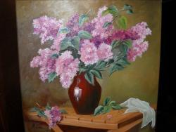 Picturi cu flori Liliac50