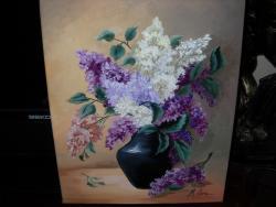 Picturi cu flori Liliac in vaza V10
