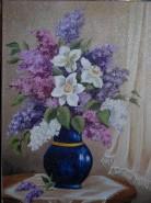 Picturi cu flori Liliac si narcise