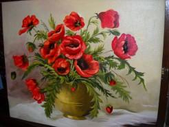 Picturi cu flori Maci imperiali