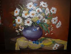 Picturi cu flori Margarete cu dedicatie