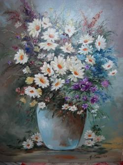 Picturi cu flori Margarete in lumina