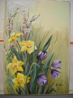 Picturi cu flori narcise si lalele