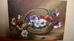Picturi cu flori panselute 10