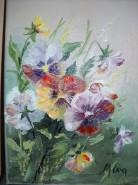 Picturi cu flori Panselute 7