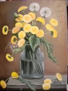 Picturi cu flori Papadii 2