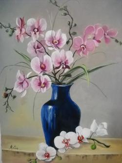 Picturi cu flori parfum  de  orhidee