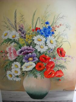 Picturi cu flori parfumul campului