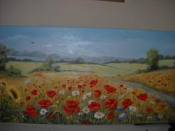 Picturi cu flori Peisaj cu flori de maci
