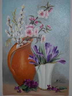 Picturi cu flori primavara 5