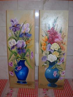 Picturi cu flori tablouri pereche
