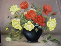 Picturi cu flori Trandafiri 3