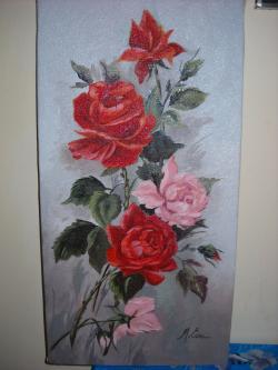 Picturi cu flori trandafiri 30