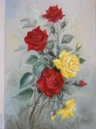 Picturi cu flori Trandafiri din gradina