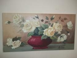 Picturi cu flori trandafiri galbeni 5