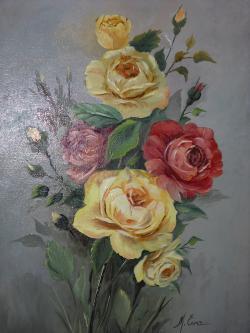 Picturi cu flori Trandafiri T 12