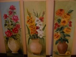 Picturi cu flori Trei surori