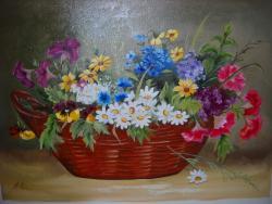 Picturi cu flori un buchet in cos