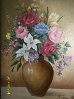 Picturi cu flori vaza cu flori  10