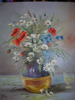 Picturi cu flori vaza cu flori de camp 2
