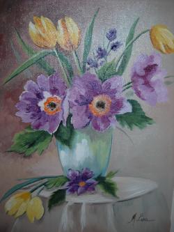Picturi cu flori Vaza cu lalele 4