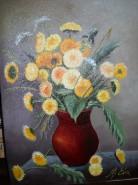 Picturi cu flori Vaza cu papadii