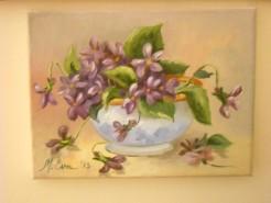 Picturi cu flori Viorele3